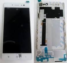 Дисплей (LCD) Lenovo S90 с сенсором белый + рамка Оригинал
