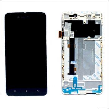 Дисплей (LCD) Lenovo S90 с сенсором чёрный + рамка Оригинал