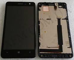 Дисплей (LCD) Nokia 625 Lumia с сенсором чёрный + рамка Оригинал