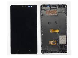Дисплей (LCD) Nokia X2 Dual Sim с сенсором чёрный + рамка Оригинал