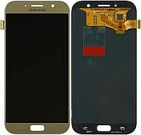 Дисплей (LCD) Samsung A720 Galaxy A7 (2017) OLED с сенсором золотистый Оригинал