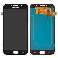 Дисплей (LCD) Samsung A720 Galaxy A7 (2017) OLED с сенсором черный Оригинал