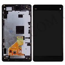 Дисплей (LCD) Sony D5503 Xperia Z1 Compact с сенсором чёрный + рамка Оригинал