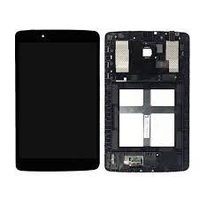 Дисплей (LCD) LG V400 G Pad 7.0 с сенсором черный + рамка Оригинал