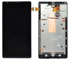 Дисплей (LCD) Nokia 1520 Lumia с сенсором чёрный + рамка Оригинал