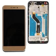 Дисплей (LCD) Huawei P8 Lite (2017), Nova Lite (2016), GR3 (2017) с сенсором золотой + рамка Оригинал
