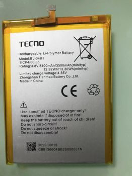 Аккумулятор (батарея) Tecno Spark 2 KA7, KA7O BL-34BT 3500mAh Оригинал