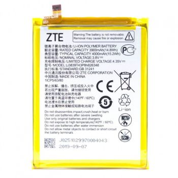 Аккумулятор (батарея) ZTE Blade A7S 2020 Li3839T43P8H826348 4000mAh Оригинал
