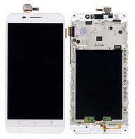 Дисплей (LCD) Asus ZenFone MAX (ZC550KL-6A076IN) с сенсором белый + рамка Оригинал