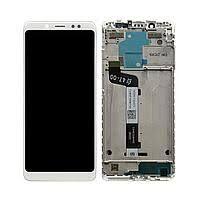 Дисплей (LCD) Meizu M5 Note (M621) с сенсором белый + рамка Оригинал