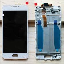 Дисплей (LCD) Meizu M5c (M710h) с сенсором белый + рамка Оригинал