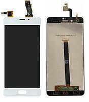 Дисплей (LCD) Meizu U10 (U680H) с сенсором белый Оригинал