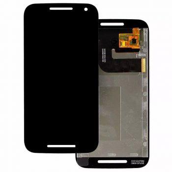 Дисплей (LCD) Motorola XT1540 Moto G3, XT1541, XT1544, XT1548, XT1550 с сенсором чёрный Оригинал