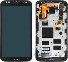 Дисплей (LCD) Motorola XT1092 Moto X, XT1093, XT1094, XT1095, XT1096 с сенсором чёрный + рамка Оригинал
