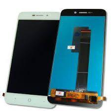 Дисплей (LCD) ZTE A601 с сенсором белый Оригинал