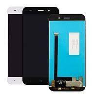 Дисплей (LCD) ZTE V7 Lite с сенсором белый Оригинал