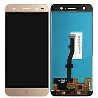 Дисплей (LCD) ZTE V7 Lite с сенсором золотой Оригинал