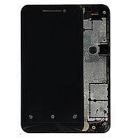 Дисплей (LCD) Asus ZenFone 4 (A400CXG, A400CG) с сенсором чёрный + рамка Оригинал