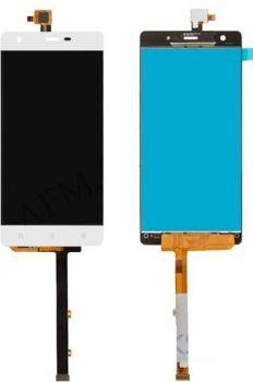 Дисплей (LCD) Nomi i506 Shine с сенсором белый Оригинал