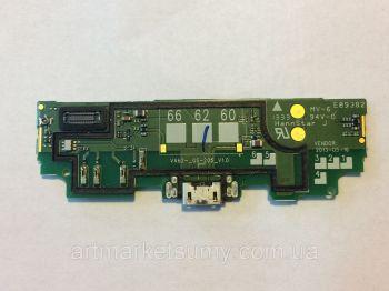 Нижняя плата зарядки (Шлейф зарядки) для Nokia 625 Lumia с разъемом, микрофоном, с кнопкой камеры