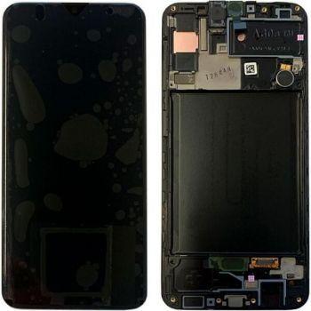 Дисплей Samsung A307 (SM-A307F) Galaxy A30s 2019 с сенсором (тачскрином) черный с рамкой Оригинал