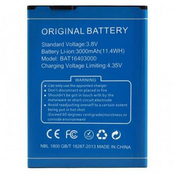 Аккумулятор (батарея) Doogee X6S 3000mAh Оригинал