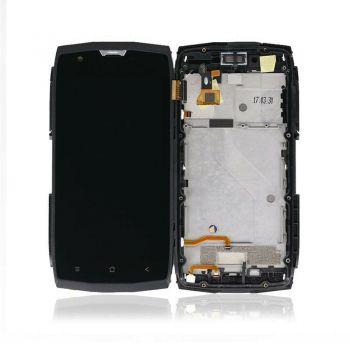 Дисплей (LCD) Blackview BV7000 с сенсором чёрный + рамка Оригинал