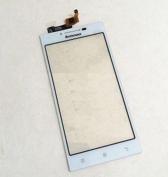 Сенсор (тачскрин) для Lenovo P70 белый Оригинал