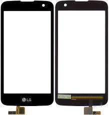 Сенсор (тачскрин) для LG K120E K4, K121 K4 чёрный Оригинал