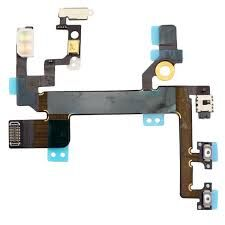 Шлейф для iPhone SE, с кнопкой включения, громкости, со вспышкой и микрофоном